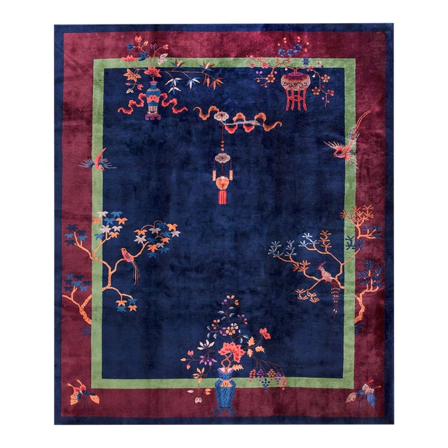 Antique Chinese Art-Deco Rug For Sale