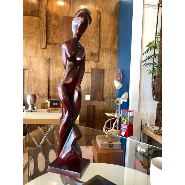Contemporary Wood Abstract Cubist Nude Figure For Sale In Charleston - Image 6 of 6