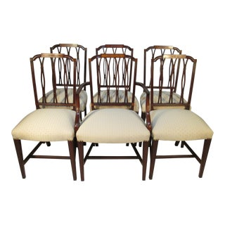 1930s Mahogany Dr Chairs by H. Sacks and Sons- Set of 6 For Sale