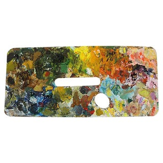 French Artist Oil Paint Palette