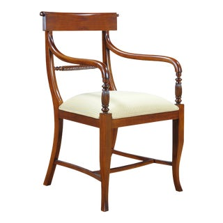 Twist Back Arm Chair For Sale