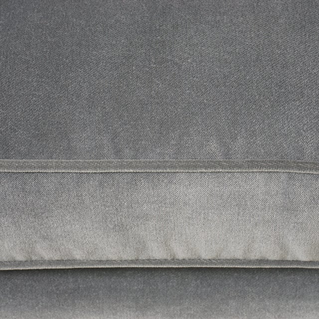 Metal Three Seat Mid-Century Sofa in Performance Velvet For Sale - Image 7 of 8