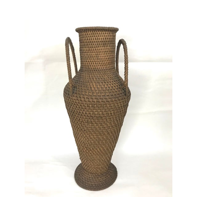 Asian Hapao Philippine Woven Rattan Urn/Vase For Sale - Image 3 of 7