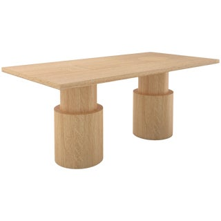 Contemporary 102 Oak Dining Table by Orphan Work For Sale