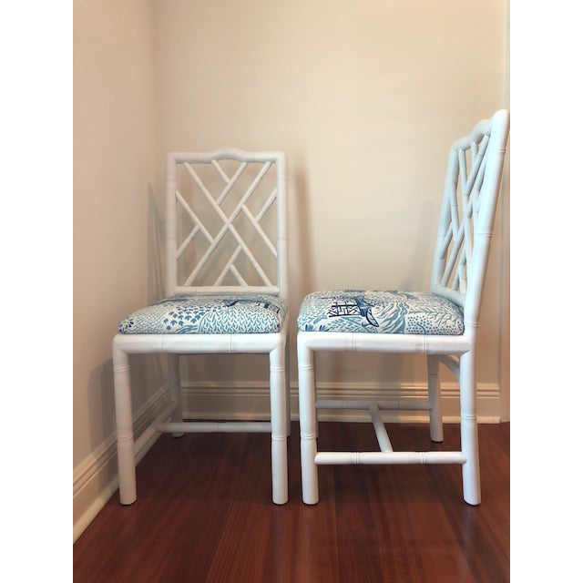 Asian Sarreid Ltd. Brighton Bamboo Chairs - A Pair For Sale - Image 3 of 6