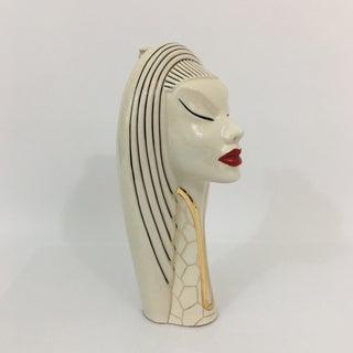 Vintage Goddess Ceramic Decanter Bust Sculpture Preview