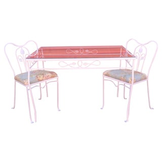 Vintage Metal Dining Set