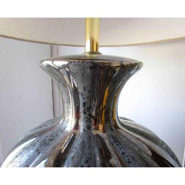Glamorous Ceramic Metallic Table Lamp - Pair - Image 3 of 6