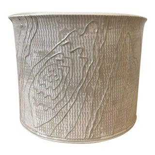 """Roy Hamilton for Steve Chase Ceramic """"Woodgrain"""" Planter, 1980s For Sale"""