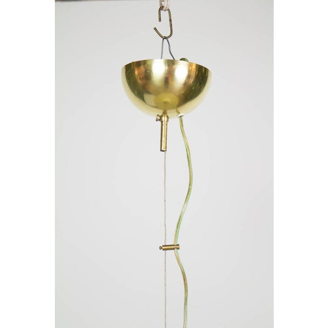 Blown Glass Large Murano Trumpet Pendant For Sale - Image 7 of 13