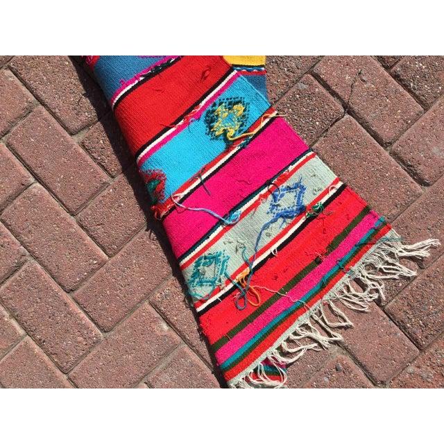 Pink Colorful Turkish Kilim Rug For Sale - Image 8 of 9