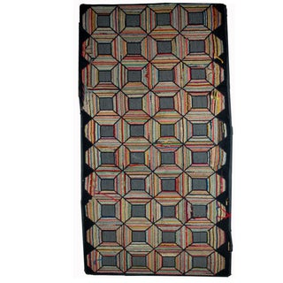 Antique American Hooked Rug - 2′10″ × 5′10″