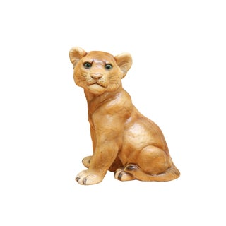 1975 Large Ceramic Lion Cub For Sale