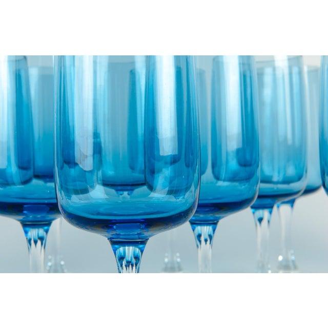 Crystal Vintage Crystal Wine / Water Barware Glasses - Set of 16 For Sale - Image 7 of 9