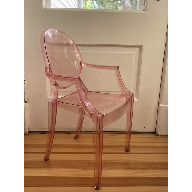 1990s Kartell Pink Lucite Lou Lou Ghost Children's Chair For Sale - Image 5 of 11