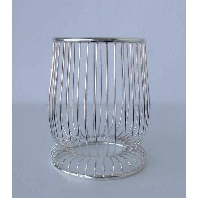 Metal Newport by Gorham Silver Wine Bottle Holder For Sale - Image 7 of 11