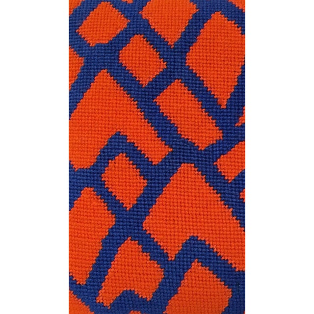 Time to embrace mod needlepoint pillows which are chic and stylish and making a big comeback. This pillow features a...