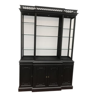 Vintage Black China Hutch