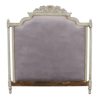 Vintage Upholstered Louis XVI Headboard