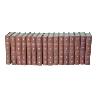 Dumas Leather Bound Books - Set of 16 For Sale