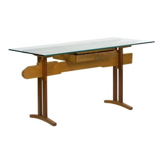"""""""Bullet Train"""" Mid Century Modern Writing Table Desk by Robert Sorrell Circa 1980s For Sale"""