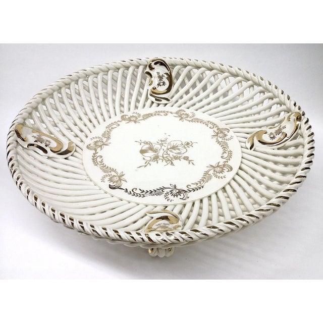 Spanish Lattice Weave Ceramic Dish - Image 3 of 11