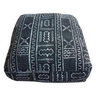 Modern Moroccan Malian Mudcloth Pouf or Ottoman For Sale