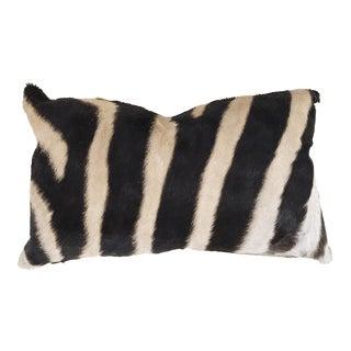 """Zebra Hide Baguette Pillow 13x21"""" For Sale"""