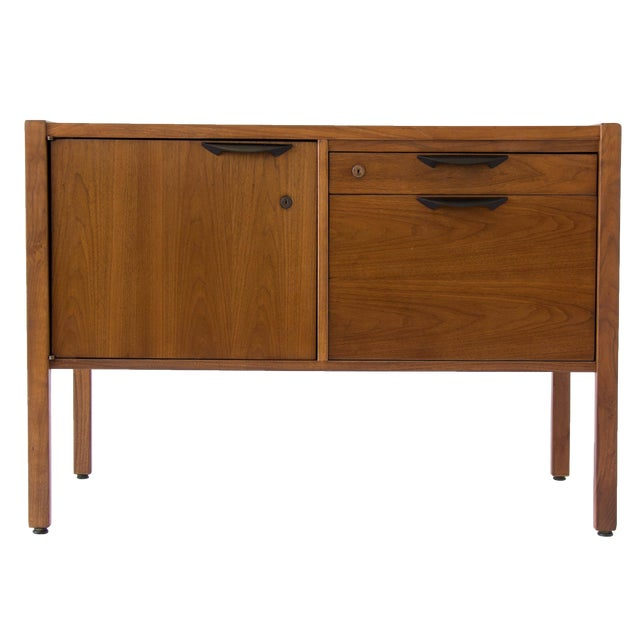 Jens Risom Compact Walnut Credenza - Image 1 of 8