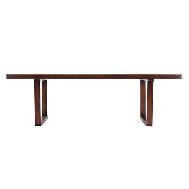 Mid-Century Modern Mid Century Modern Checker Style Tile Top Coffee Table in Brass Frame For Sale - Image 3 of 6