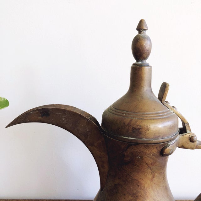 Antique Middle Eastern Large Dallah Coffee Pot For Sale - Image 4 of 9