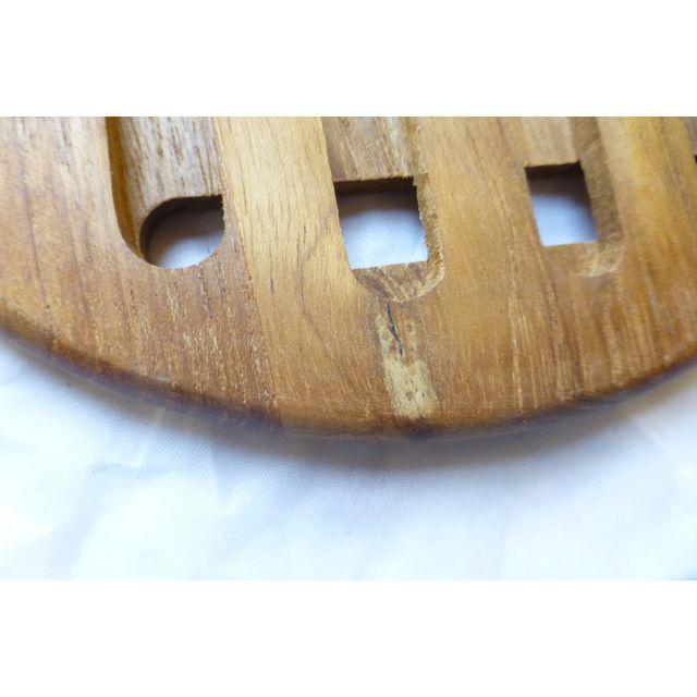 Mid-Century Danish Modern Teak Hot Plates - Set of 6 - Image 6 of 8