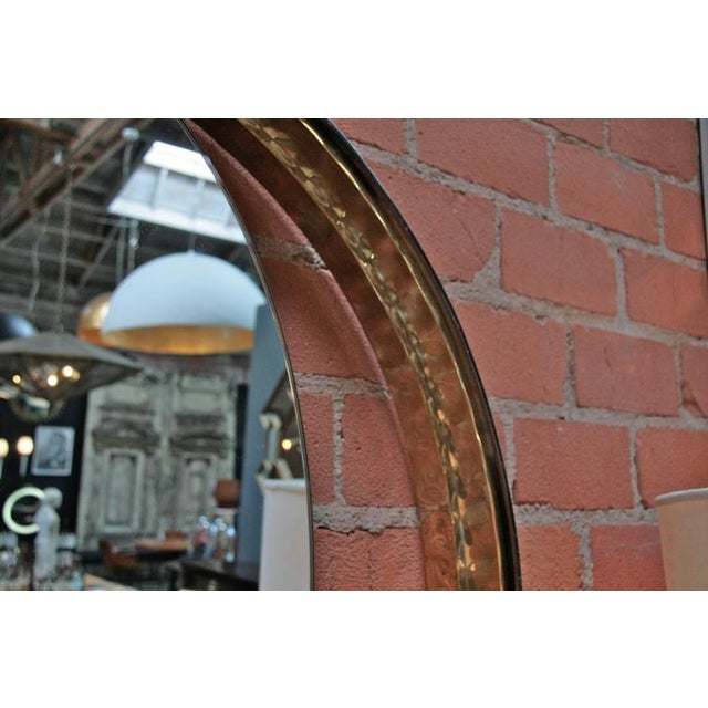 Italian Mirror with Wood and Brass Frame For Sale In Los Angeles - Image 6 of 7