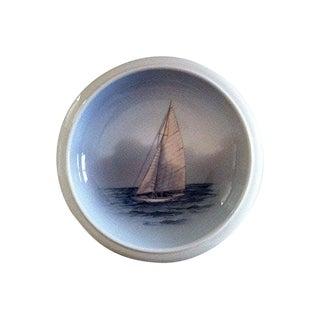 Danish Sailboat Decorative Bowl For Sale