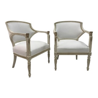 Gustavian Chairs With Pharaoh Heads - A Pair