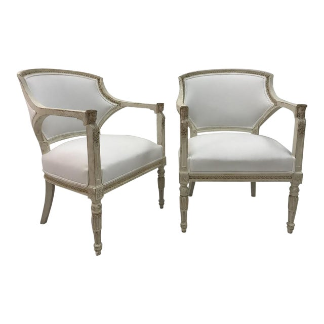 Gustavian Chairs With Pharaoh Heads - A Pair For Sale