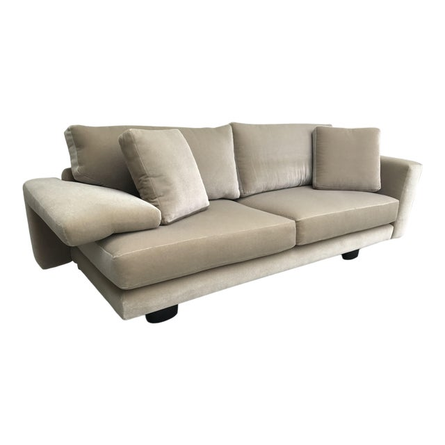 Mauro Lipparini for Saporiti Italia Mohair Sofa For Sale