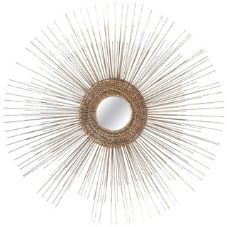 1950s Woven Sunburst Wall Sculpture For Sale