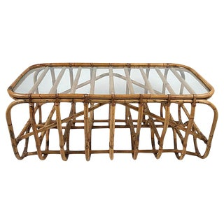 Architectural Bamboo Coffee Table For Sale