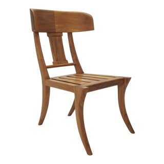 Modern Michael Taylor Collections Teak Klismos Side or Dining Chair For Sale
