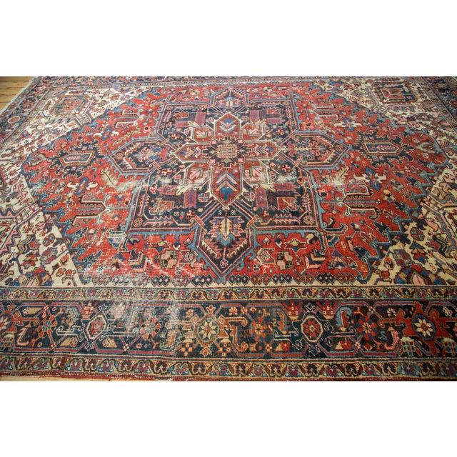 "Vintage Distressed Heriz Carpet - 8'11"" X 11'10"" - Image 9 of 10"