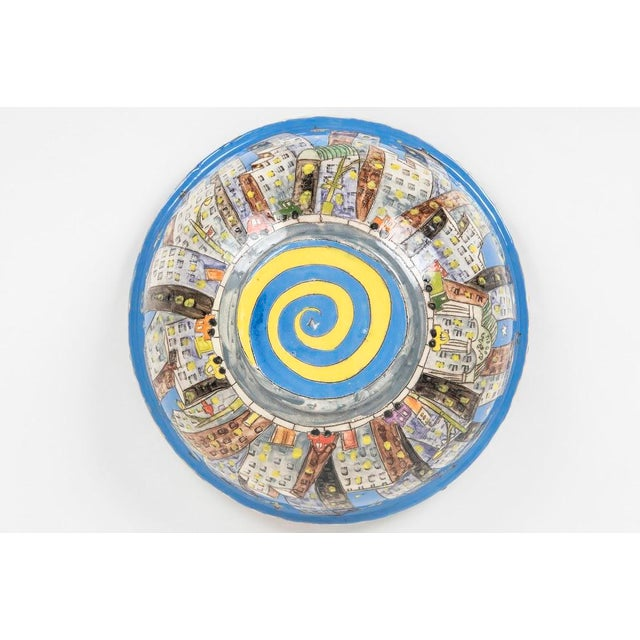"""""""city Scape"""" Ceramic Bowl For Sale - Image 4 of 5"""