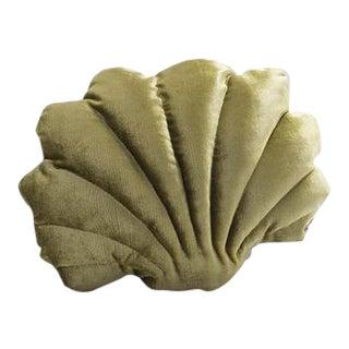 Small Shell Pillow - Chartreuse Velvet