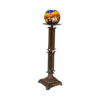 Metal Bronze Decorative Table Top Candle Holder For Sale
