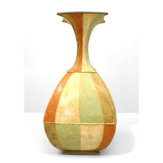 American Post-War DI Pasquale Roman Stripe Vase For Sale - Image 4 of 4