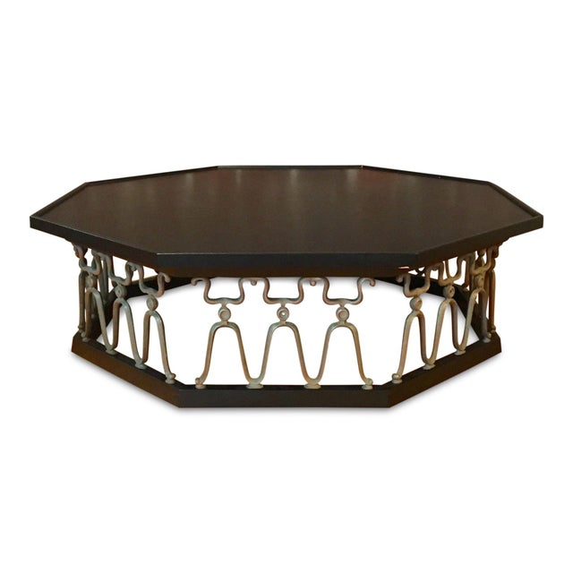 Metal 1960s Mid-Century Modern John Van Koert for Drexel Ebonized Casa Del Sol Coffee Table For Sale - Image 7 of 7