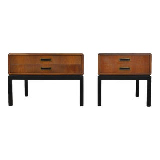 Harvey Probber Walnut End Tables Nightstands For