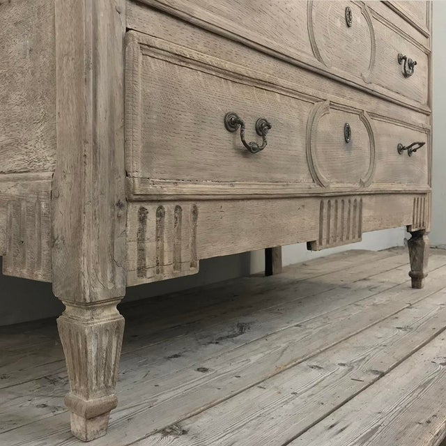 18th Century Country French Stripped Oak Commode For Sale - Image 10 of 13