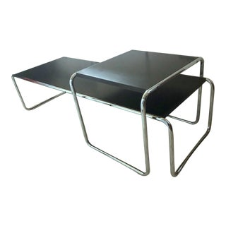 Knoll Marcel Breuer Laccio Coffee and Side Table Set - 2 Pc. For Sale