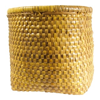 1970s Vintage Woven Basket For Sale